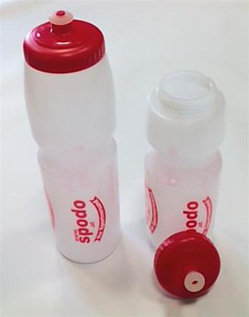 SPODO Trinkflasche 1000ml transparent/rot